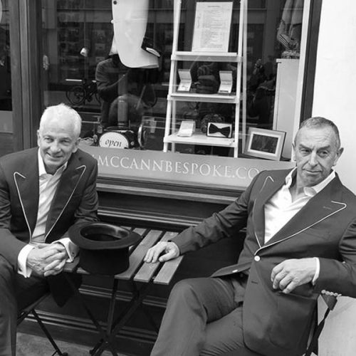 mccann bespoke ambassador David Gower and David Lloyd Sq