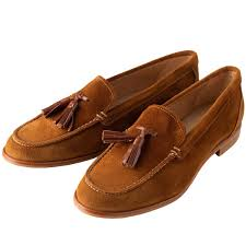 Tan Suede Tassel Loafers | Ladies Country Clothing | Cordings