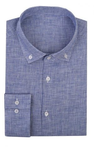 Blue Casual Patterned Shirt