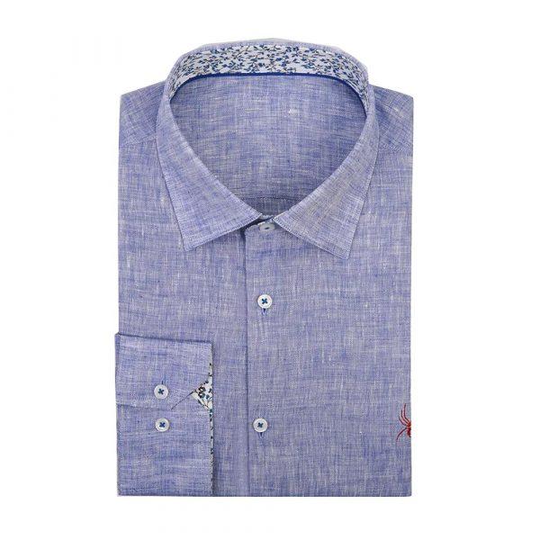 Blue linen shirt sq