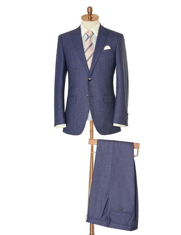 BlueWoolTwoPiece Suit 2