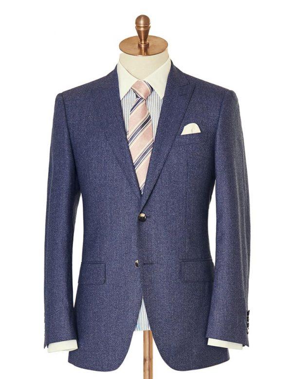 BlueWoolTwoPiece Suit