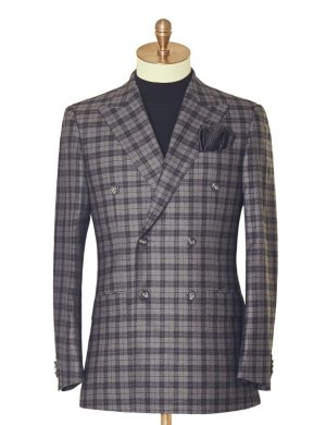 Bold Check Double Breasted Suit