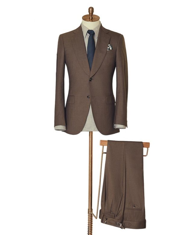 BrownTwoPiece Suit 2