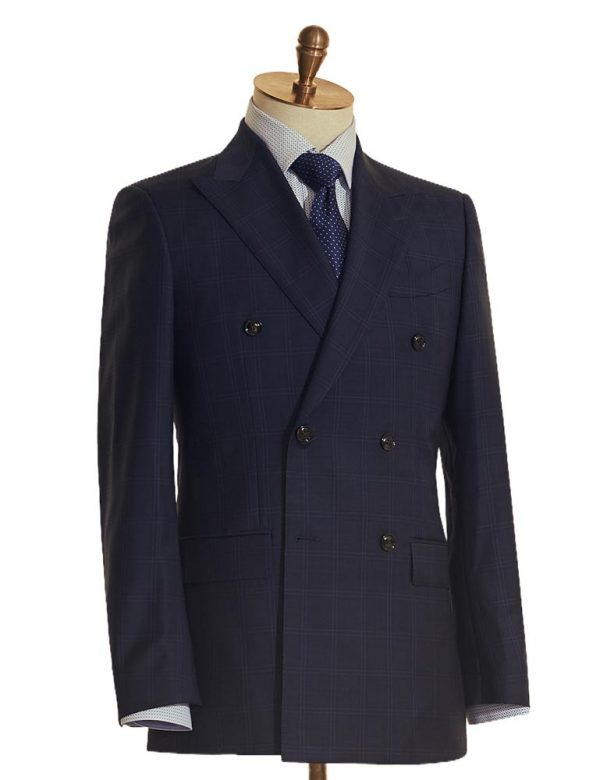 Classic Navy Double Breasted Suit 2