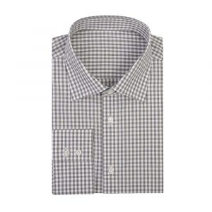 Grey Gingham Check Shirt