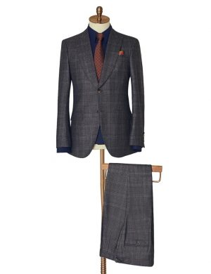 Grey Subtle Check Two Piece Suit