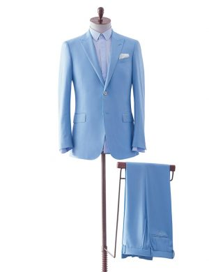 Light Blue Two Piece Suit