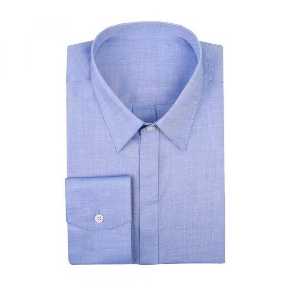 Mid blue work shirt sq