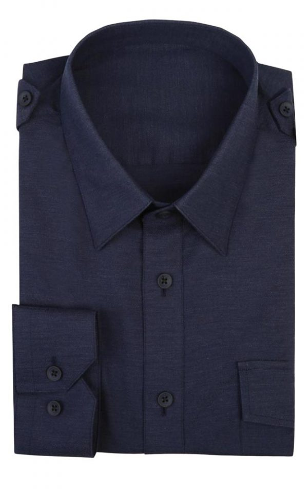 Navy Shirt stretch