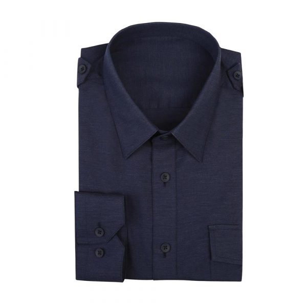 Navy Shirt stretch sq