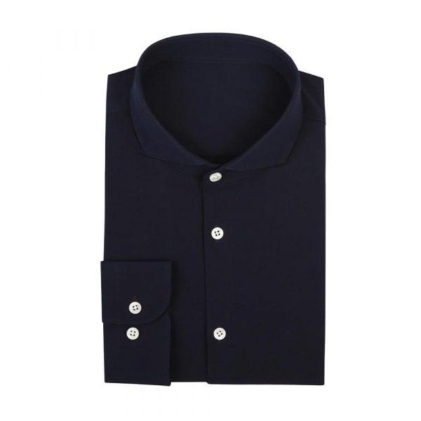 Navy cotton shirt sq