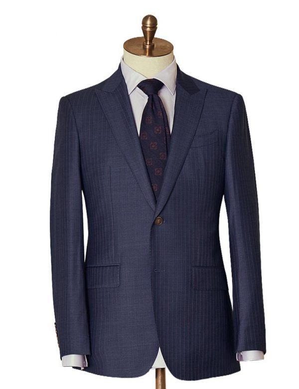 NavySelfStripeTwoPiece Suit