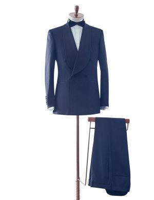 Navy Shawl Lapel Dinner Suit