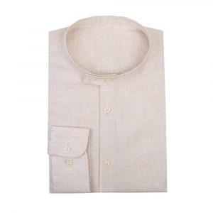Faded Pink Collarless Shirt