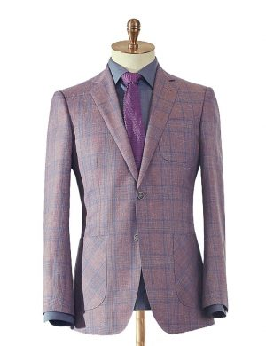 Pink & Blue Check Summer Suit