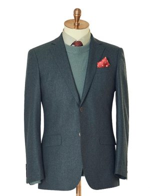 Teal Flannel Two Piece Suit