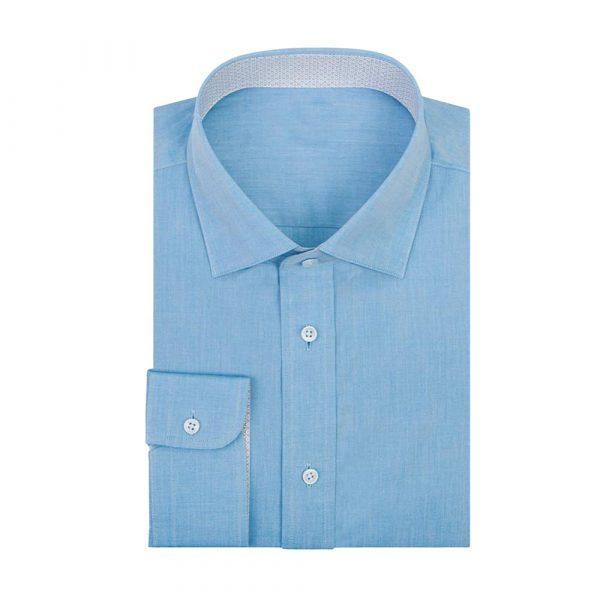 Turquoise linen shirt sq
