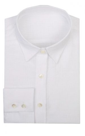 White Pointed Collar