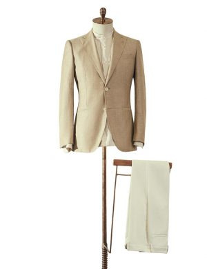 Beige Jacket & Cream Trousers Suit