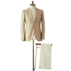 Beige Jacket & Cream Trousers Suit