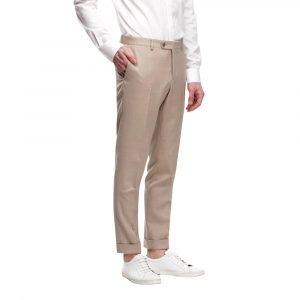 Beige Cotton Stretch Chino