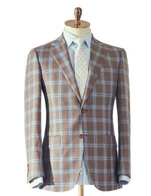 Brown Blue Jacket