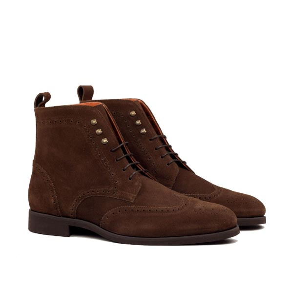 Brown suede boot