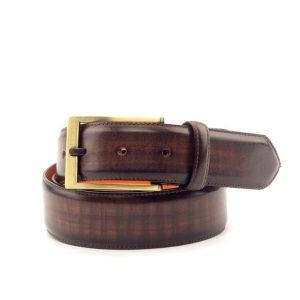 Dark Brown Gold Buckle Belt