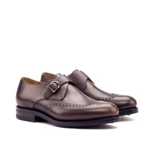 Brown Single Monk Strap Shoe