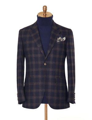 Dark Blue Check Jacket