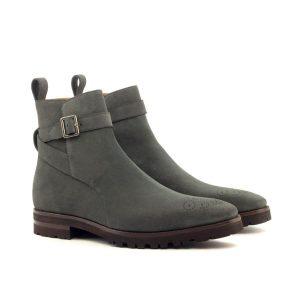 Grey Strap Boot
