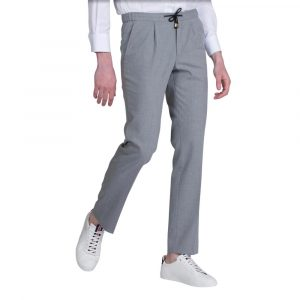 Grey Drawstring Casual Trousers