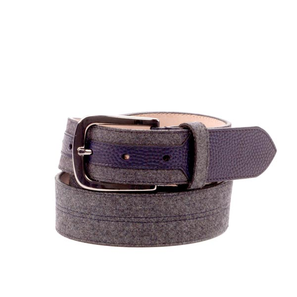 Grey flannel belt