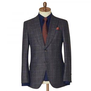 Grey Subtle Check Two Piece Suit
