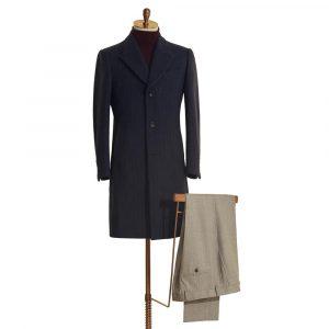Navy Wool Overcoat
