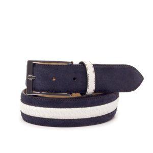 Navy Suede Belt