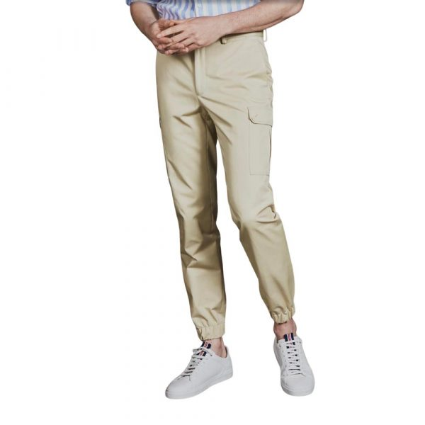 Sand Cargo trousers Elasticated bottoms