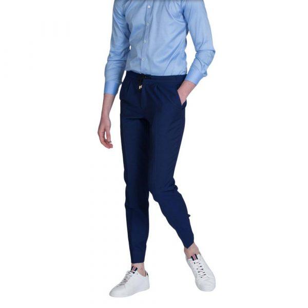 Slim fit Blue drawstring trouser