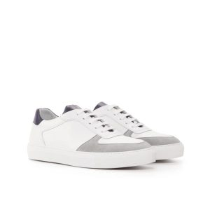 White Suede Top Trainer