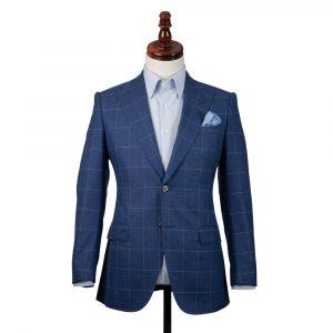 Blue Check Linen Jacket