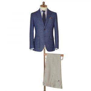 Blue Herringbone Jacket