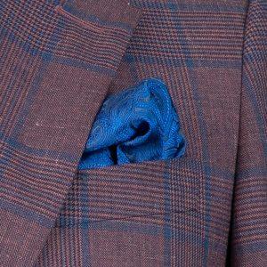 Crimson Linen Check Jacket