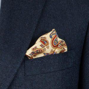 Navy Herringbone Jacket