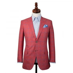 Red Check Linen Jacket