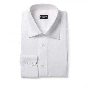 White Textured Formal Shirt