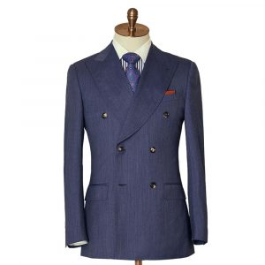 Blue Marl Double Breasted Suit